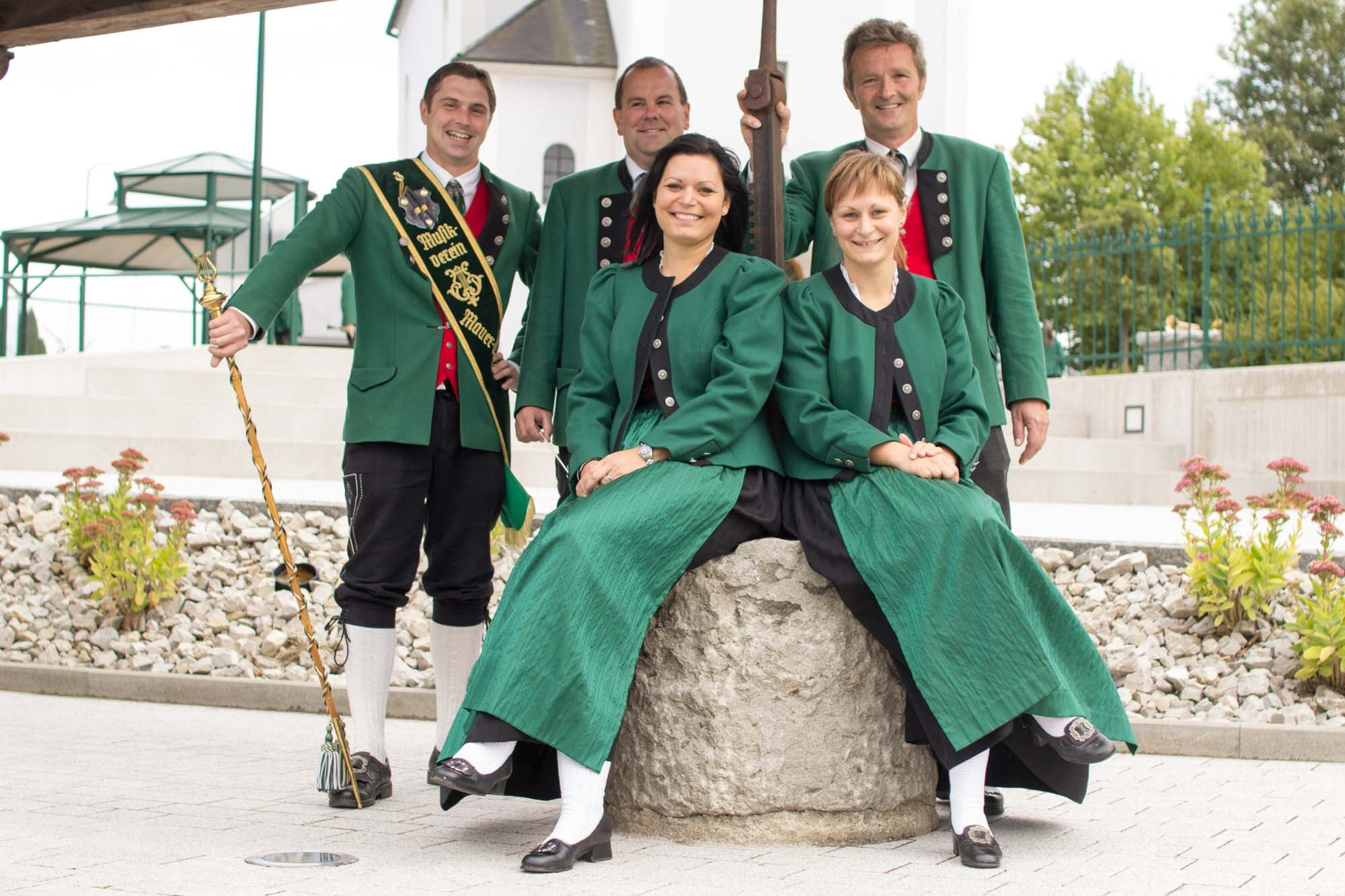v.l.n.r.: Jürgen Scherscher, Johann Eblinger, Nicole Wahlmüller, Katharina Kremser, Alois Pfleger